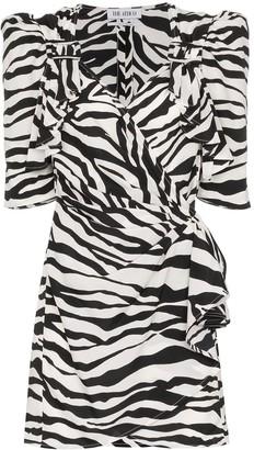 ATTICO The zebra-print mini dress