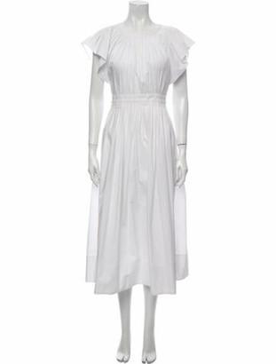 Ulla Johnson Crew Neck Midi Length Dress White