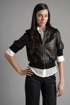 Hendrix Crop Leather Jacket