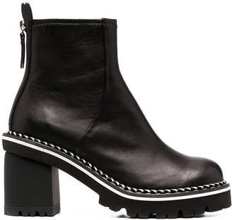 AGL Braid-Trimmed Ankle Boots