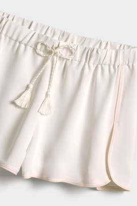 Negative Underwear Supreme Sleep Short in White + Peach