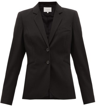 LA COLLECTION Julie Single-breasted Wool-blend Suit Jacket - Black