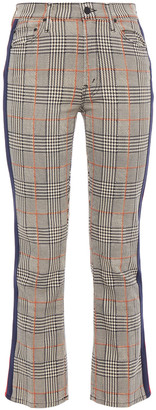 Mother Prince Of Wales Checked Stretch-cotton Kick-flare Pants