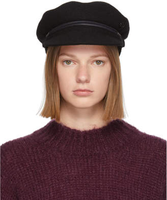 Maison Michel Black New Abby Sailor Cap