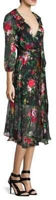 Alice + Olivia Abney Wrap Shirt Dress