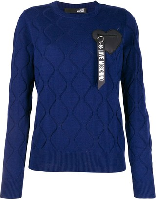 Love Moschino Logo Embroidered Jumper
