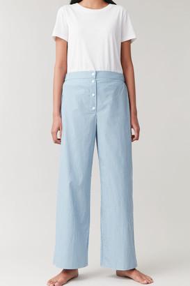 Cos Striped Pyjama Trousers With Pocket