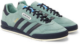 adidas Jeans Super Leather-trimmed Nubuck Sneakers - Green