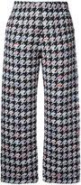 Coohem houndstooth pattern trousers - women - Cotton/Acrylic/Nylon/Wool - 36