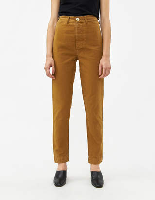 Jesse Kamm Women's Ranger Pant in Tobacco, Size 0 | 100% Cotton