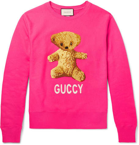 Gucci Appliquéd Loopback Cotton-Jersey Sweatshirt