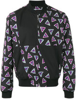 Kenzo triangle print bomber jacket - men - Cotton/Polyamide/Polyester/Acetate - S