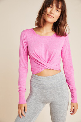 Free People Movement Undertow Cropped Tee By Movement in Pink Size XS