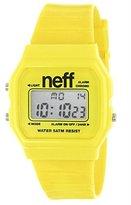 Neff Men's NF0204-Yellow Old School Digital Design Soft PU Strap Watch [Watch...