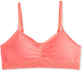 Maidenform Lace-Trim Ruched Seamless Crop Bra, Little Girls (4-6x) and Big Girls (7-16)