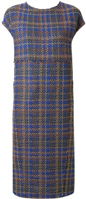 Coohem Madras tech tweed dress