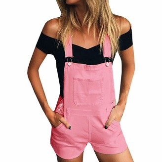 Homebaby   Women Jumpsuits Ladies Summer Denim Dungarees Short Bib Slim Pants Overalls Jeans Straps Trousers Girls Retro Loose Casual Sleeveless Playsuit Jumpsuit for Women Going Out Party Rompers