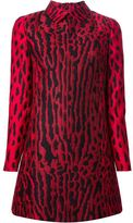 jennifer lopez  Who made  Jennifer Lopezs red leopard dress and black platform pumps?