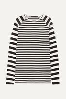 Haider Ackermann Striped Silk-chiffon And Ribbed Jersey Top