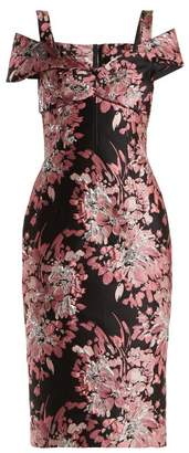 Dolce & Gabbana Floral Jacquard Dress - Womens - Black Multi