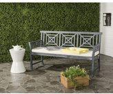 Safavieh Del Outdoor Ash Grey/ Beige Mar 3 Seat Bench