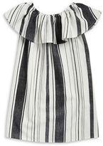 Vintage Havana Girls 7-16 Girls Sleeveless Striped Ruffled Shift Dress