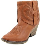 Mia Joshua Women Pointed Toe Synthetic Brown Ankle Boot.