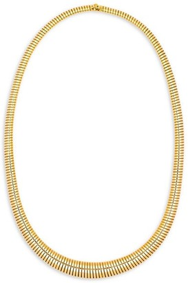 Stephanie Windsor Retro French 18K Yellow Gold Tubogas Collar Necklace