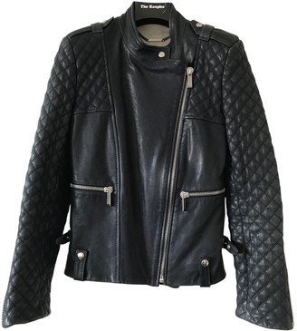 Barbara Bui Blue Leather Leather Jacket for Women