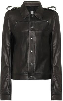 Rick Owens Babel leather jacket