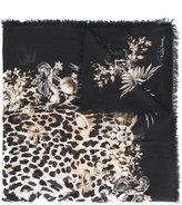 Roberto Cavalli leopard print scarf - women - Modal - One Size