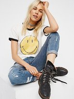 Daydreamer Smiley Ringer Tee by at Free People