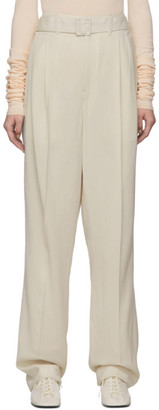 Lemaire Off-White Wool Pleated Trousers