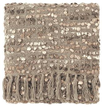 Company C Park Acrylic Hand Woven Throw Blanket, Driftwood