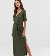 Asos Tall DESIGN Tall soft touch belted maxi dress
