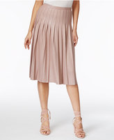 INC International Concepts Pleated A-Line Skirt, Only at Macy's