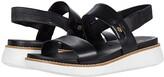 Cole Haan Zerogrand Global Double Band Sandal (Black/Optic White) Women's Shoes