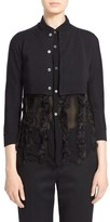 Comme des Garcons Women's Cotton Crop Cardigan