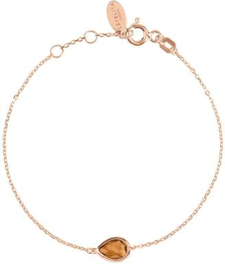 Rosegold Latelita Pisa Mini Teardrop Bracelet Smokey Quartz