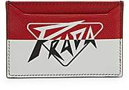 Prada Men's Colorblock Arrow Saffiano Leather Card Case