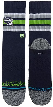 Stance NFL Backfield Seattle Seahawks Crew (Navy) Crew Cut Socks Shoes