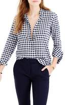 J.Crew Women's Crinkle Gingham Boy Shirt