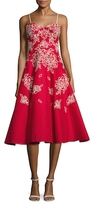 Tracy Reese Cotton Embroidered A Line Dress