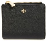 Tory Burch Women's 'Mini Robinson' Leather Wallet - Black