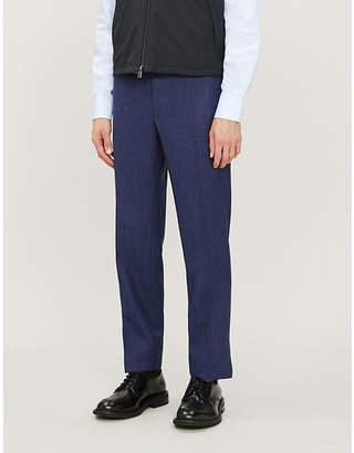 Canali Regular-fit wool-silk-linen blend trousers