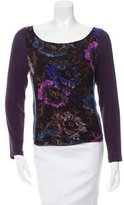 Etro Printed Mesh-Accented Top
