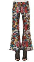 Marques Almeida Cropped Flare Brocade Pants