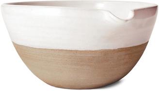 "Pantry Mixing Bowl - White/Natural - Farmhouse Pottery - 12"""