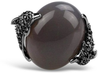 Umbra Bellus Domina Agate Dolphin Cocktail Ring