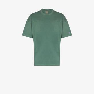 Champion drop shoulder garment dye T-shirt